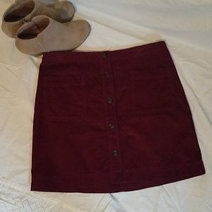 Gap Corduroy Skirt, Cranberry, NWOT